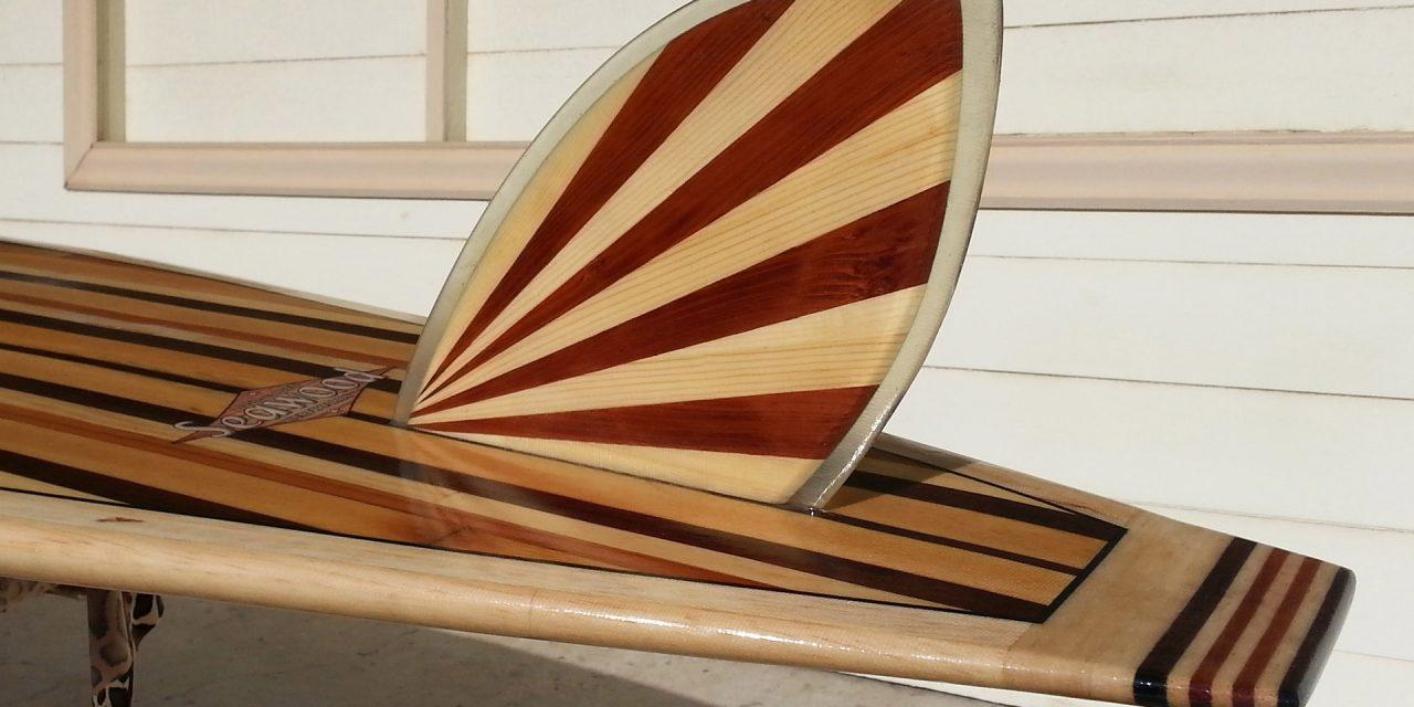 Make a rising sun surfboard fin