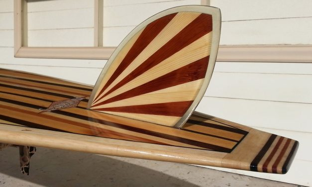 Make a rising sun surfboard fin